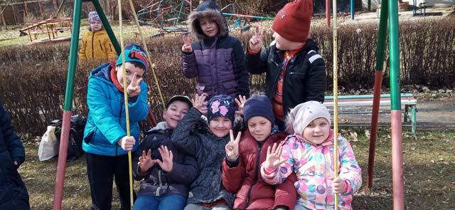 """""""Tygryski"""" – wiosenne zabawy w ogrodzie przedszkolnym"""